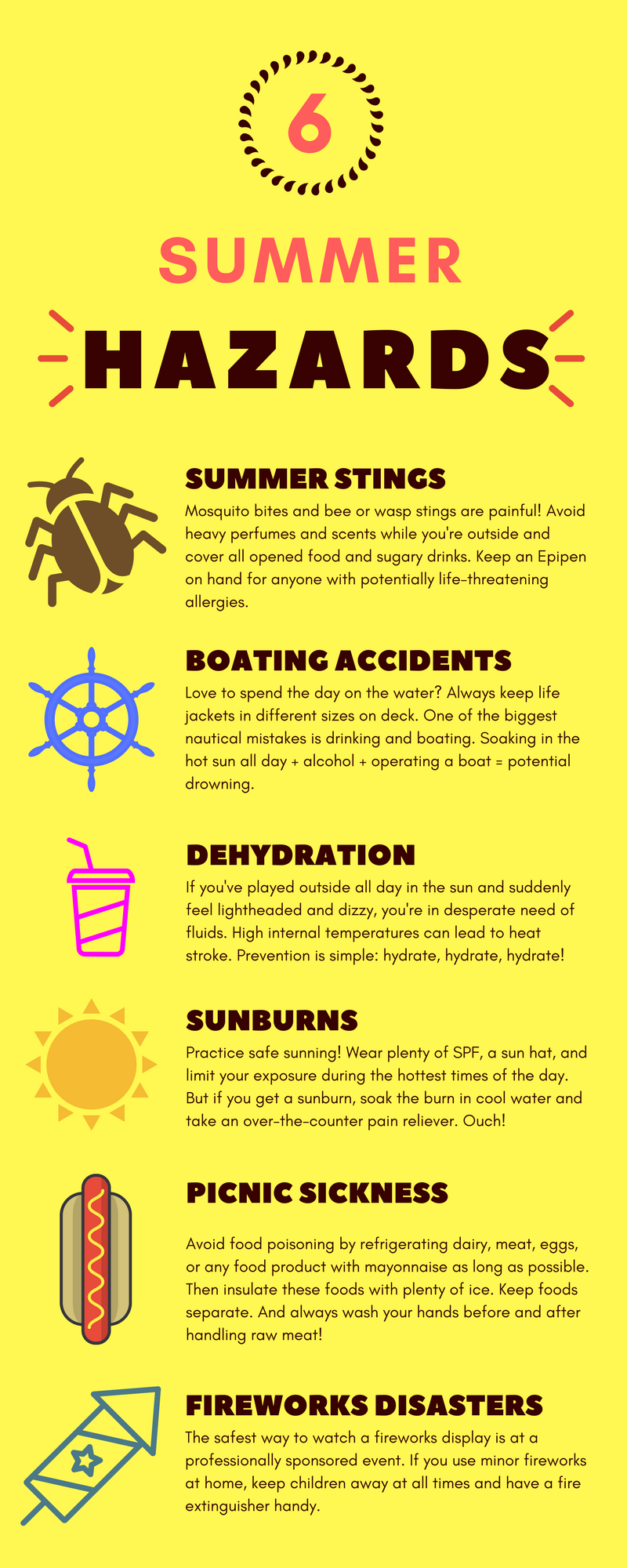 Summer hazards