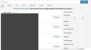 LinkedIn's people search tool