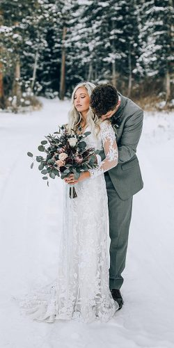 beautiful winter wedding dress